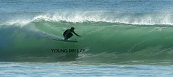 A real surfer, Hells Mouth (Porth Neigwl) photo