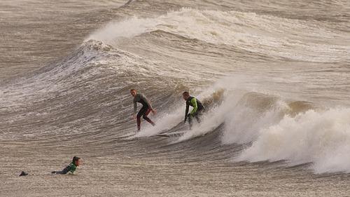 Big waves at Porthcawl, Porthcawl Point