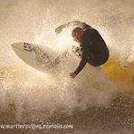 Big waves at Langland, Langland Bay