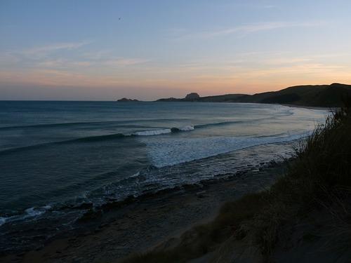 Sunset at Castlepoint, Castlepoint - Slippery