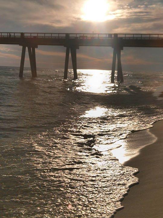 sunset under the pier, Navarre Beach Pier