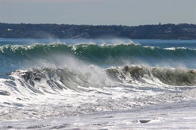 Double Wave At Nanny Nantasket Beach Photo