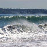 """Double Wave at """"Nanny"""", Nantasket Beach"""