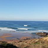 marea super baja, Praia do Amado