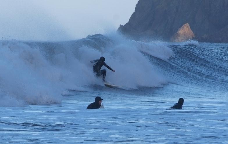 Lynmouth surf break