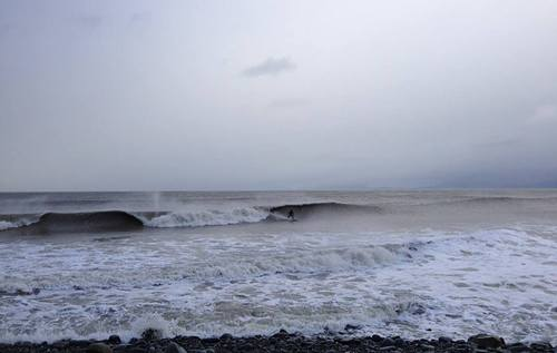 Surfing the big old nasty storm!!!!!!!!, Llwyngwril