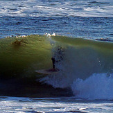 Another tube ride, Royal Palms State Beach