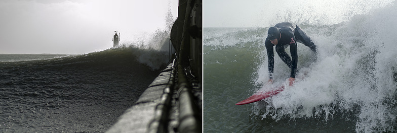 Newlyn Harbour Wall surf break